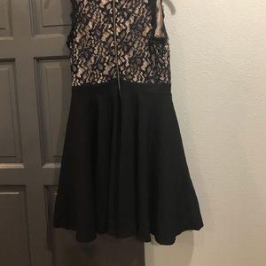 Francesca's Collections Dresses - Francesca's Fit & Flare Lace Black Dress